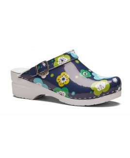Toffeln Flexi Clog Blue Flower