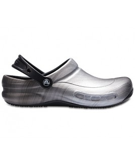 OUTLET : size 39/40 Crocs Bistro Metallic Silver