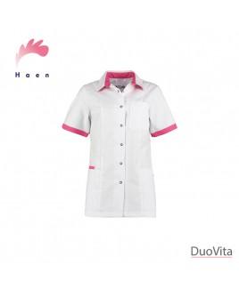 Haen Tunique Fijke White/Shocking Pink