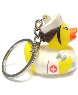 Nurse Rubber Duck Keychain