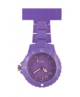 Montre Infirmière Néon Fluo Violet