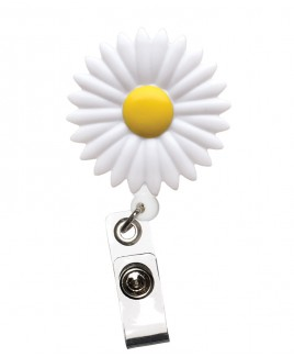 Porte Badge Enrouleur Marguerite