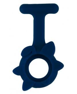 Housse en Silicone Printemps Fleur Bleu Marine
