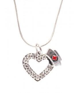 Collier Cœur diamants
