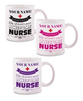 Tasse Awesome Nurse avec Nom Imprimé